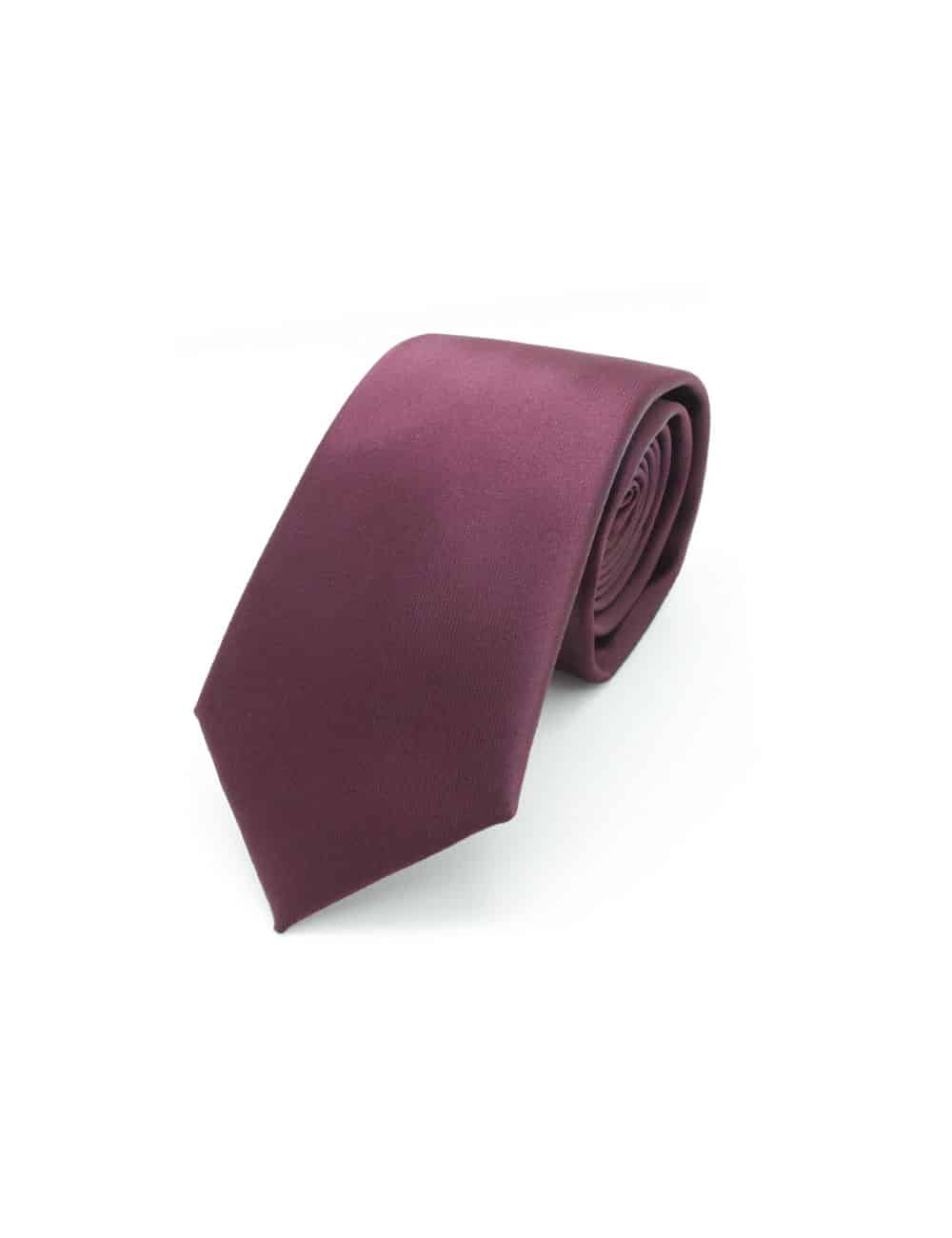 Solid Ruby Wine Woven Necktie NT11.9