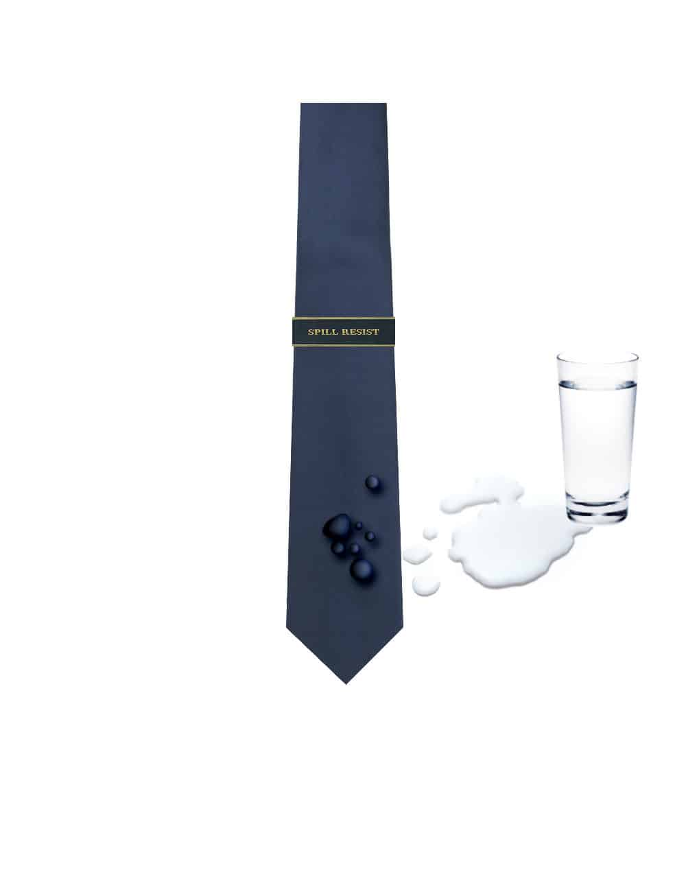 Solid Space Navy Spill Resist Woven Necktie NT12.13