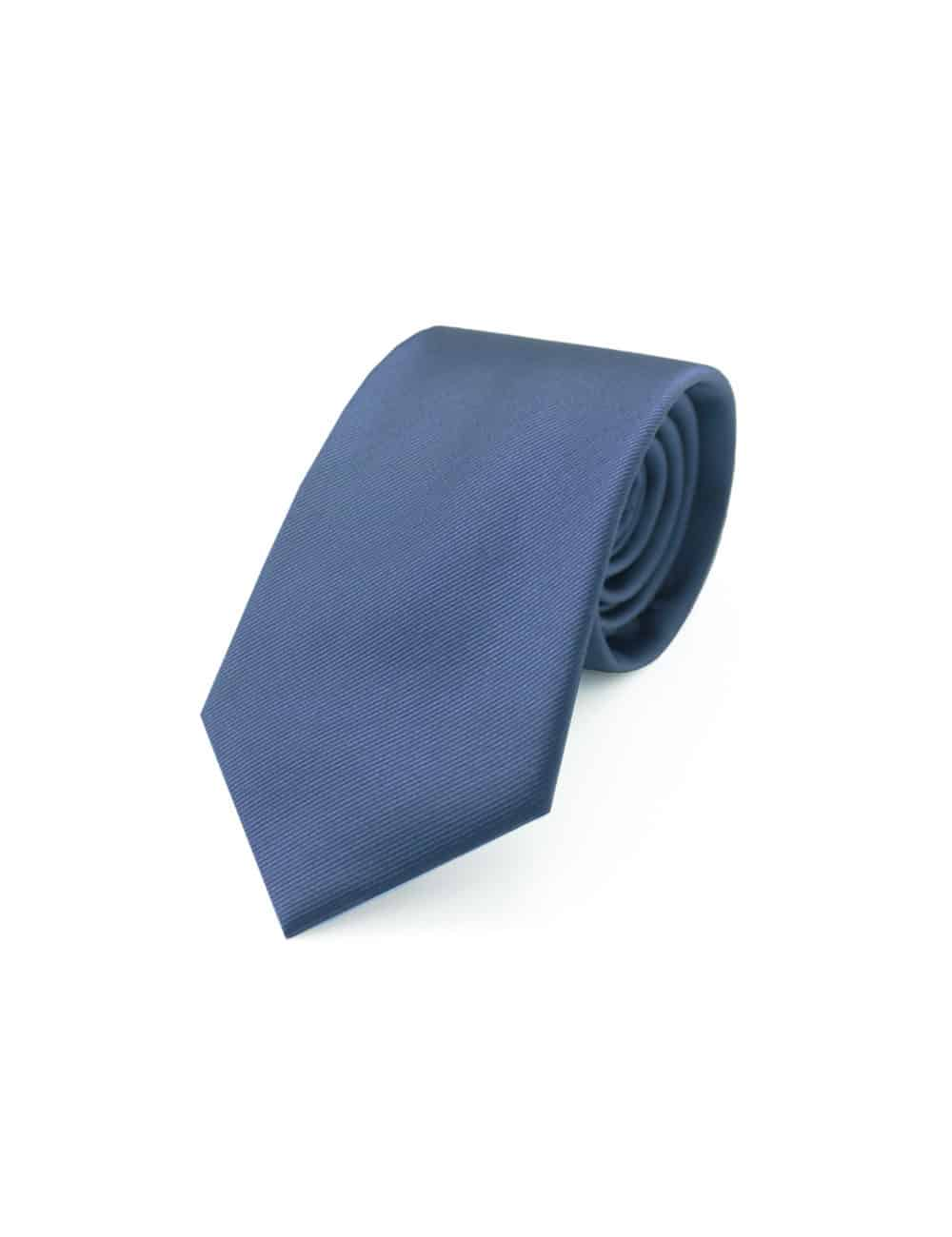 Solid Blue Nights Woven Necktie NT12.7