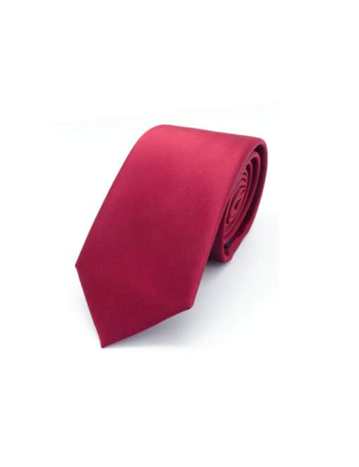 Solid Ribbon Red Woven Necktie NT12.9