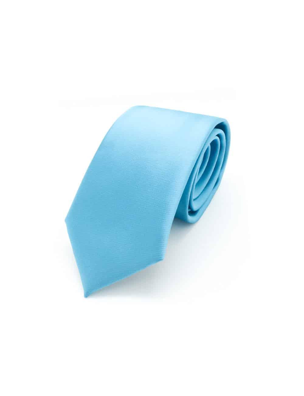 Solid Vivid Blue Woven Necktie NT13.9