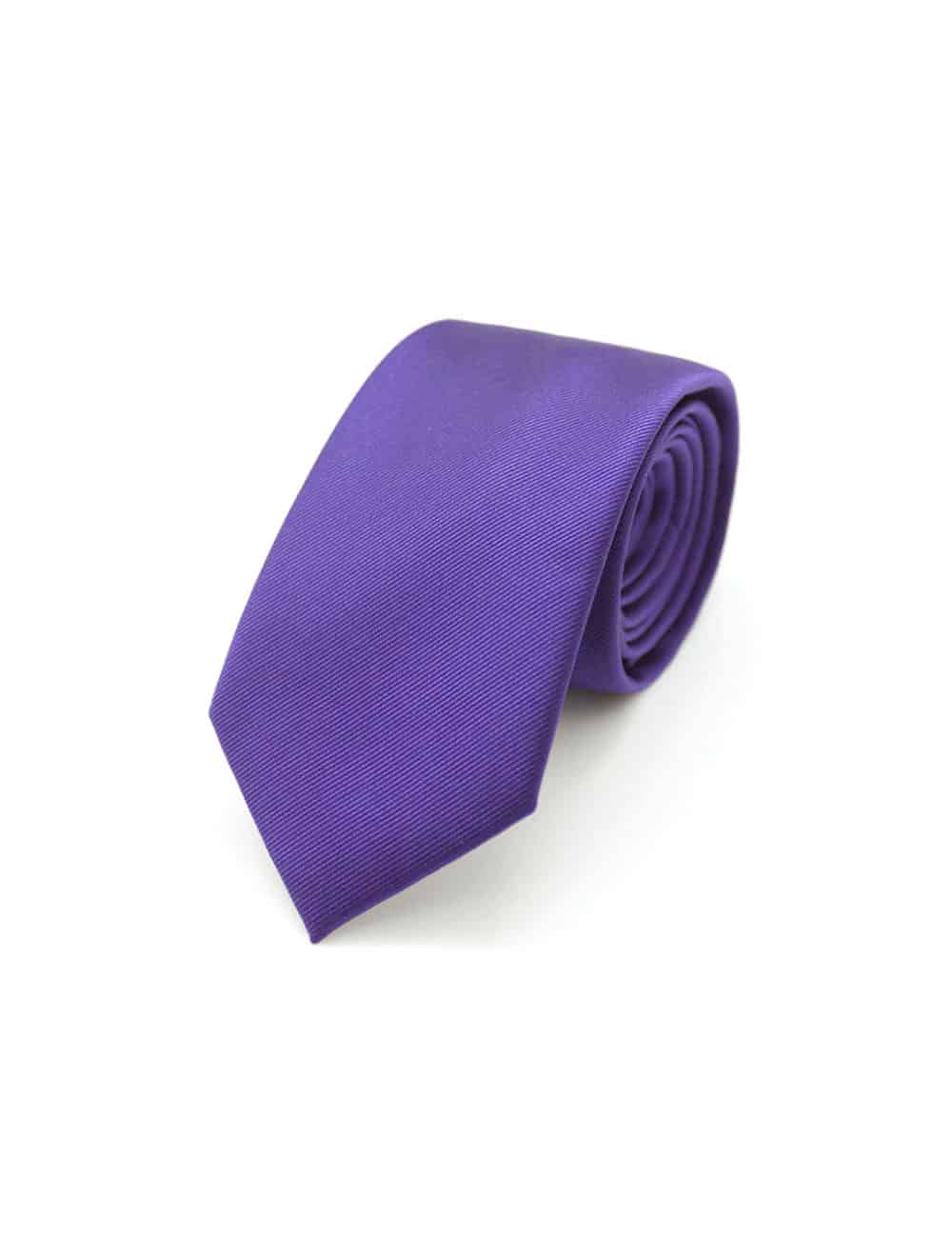 Solid Royal Purple Woven Necktie NT14.7