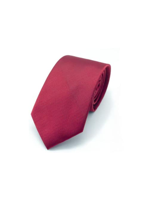 Solid Red Woven Necktie NT16.4