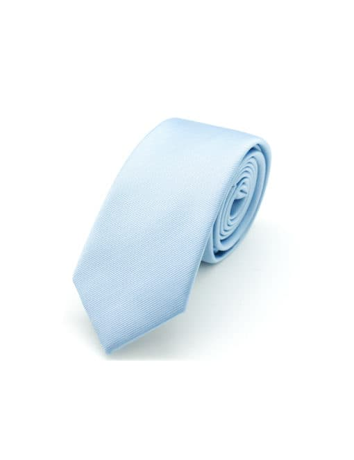 Solid Blue Bell Woven Necktie NT16.7