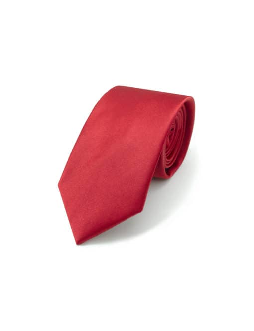 Solid Chilli Red Woven Necktie NT18.9