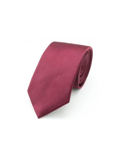 Solid Beet Red Woven Necktie NT19.9