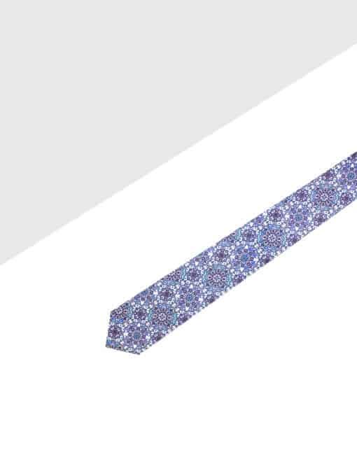 Blue Paisley Print Necktie NT2.10