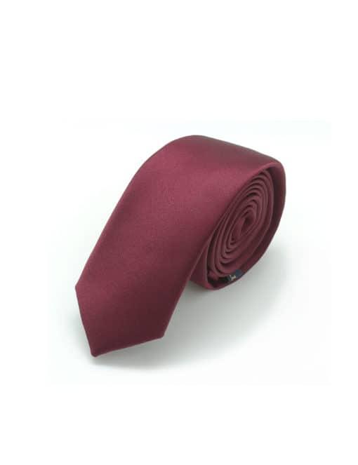Solid Maroon Woven Necktie NT2.13