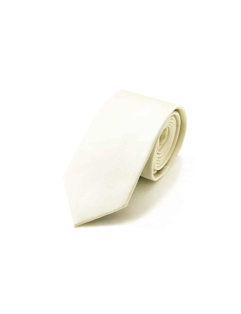 Solid Cloud Cream Woven Necktie NT2.4