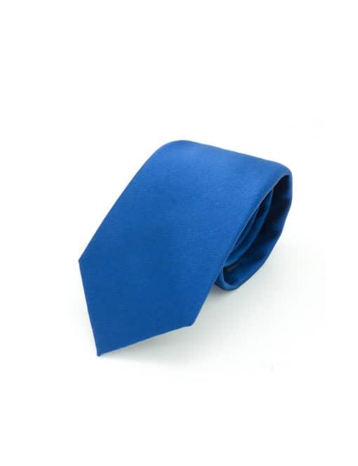 Solid Dark Blue Woven Necktie NT2.9