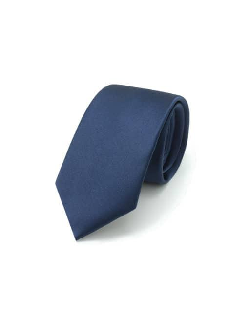Solid Dark Iris Blue Woven Necktie NT20.9