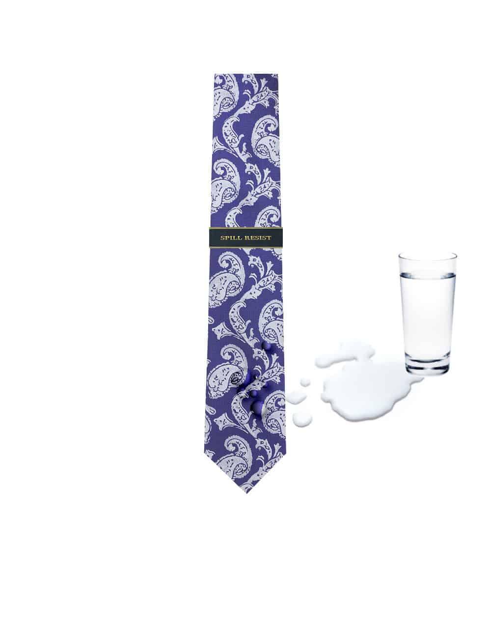 Purple Paisley Spill Resist Woven Necktie NT22.9