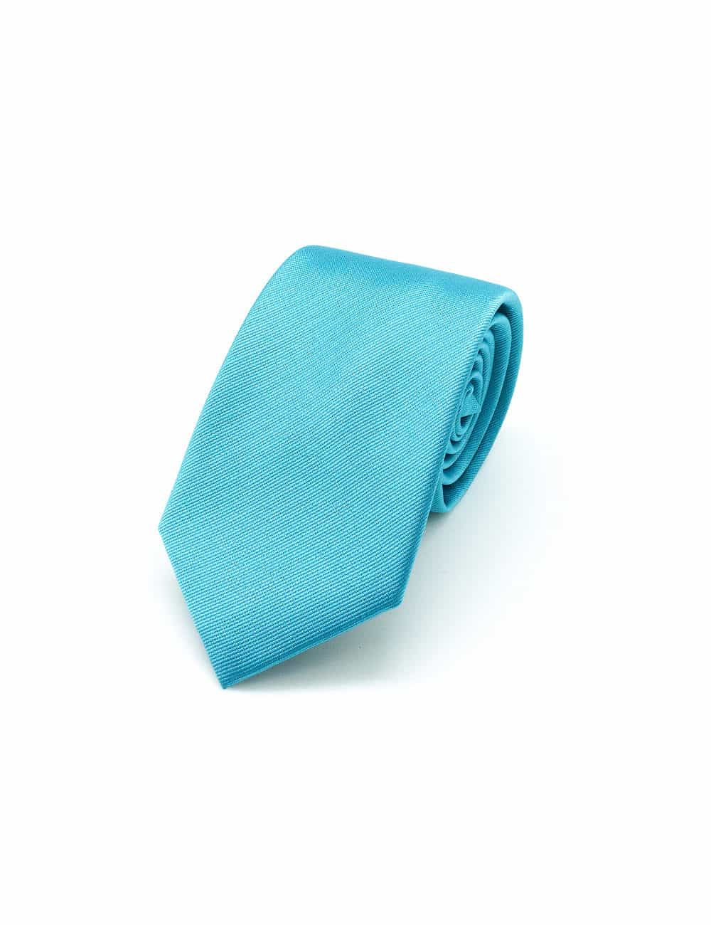 Solid Turquoise Woven Necktie NT23.4