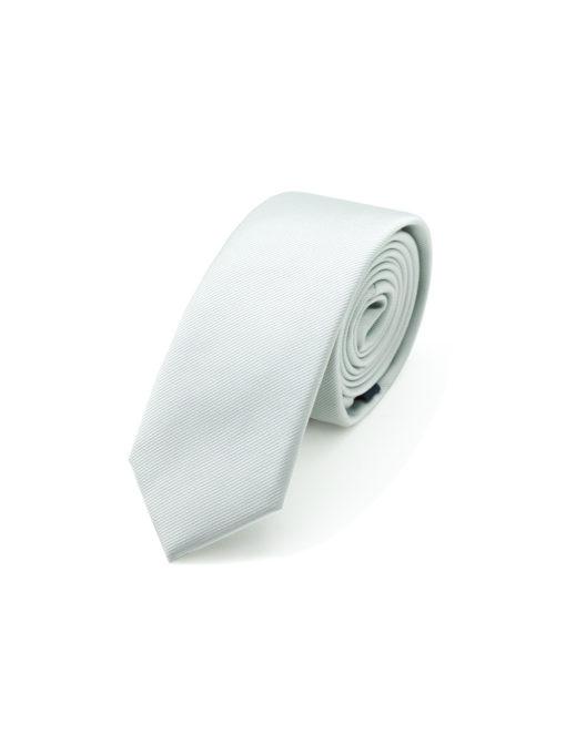 Solid Silver Grey Woven Necktie NT23.7