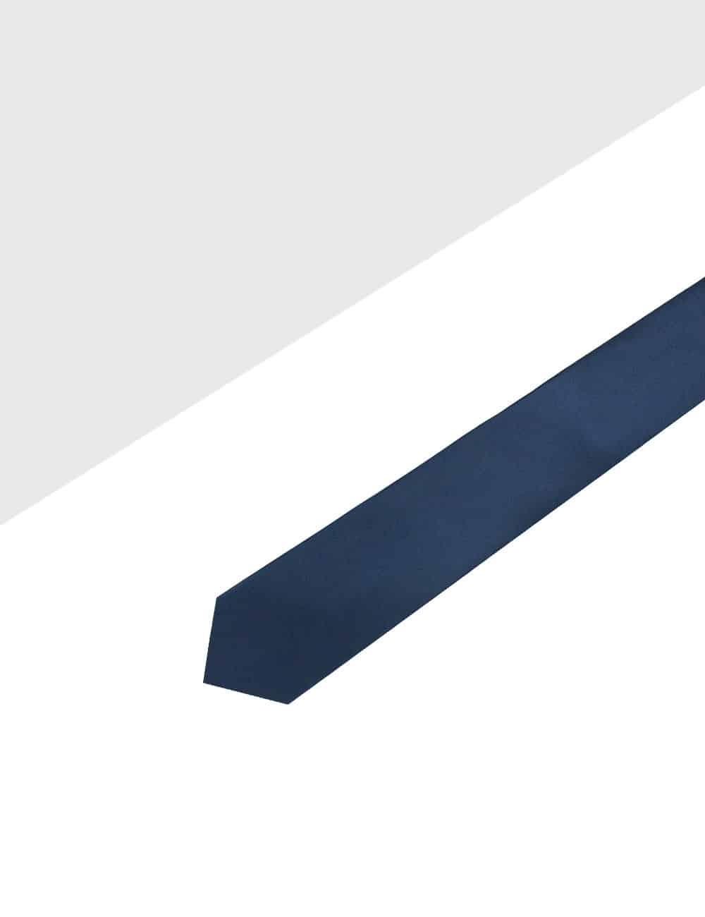 Solid Midnight Blue Woven Necktie NT26.4