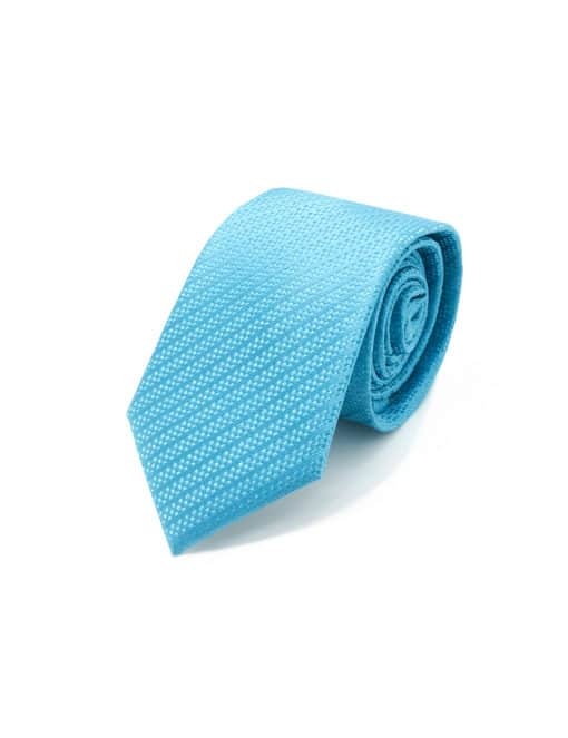 Cyan Blue Dobby Spill Resist Woven Necktie NT27.9