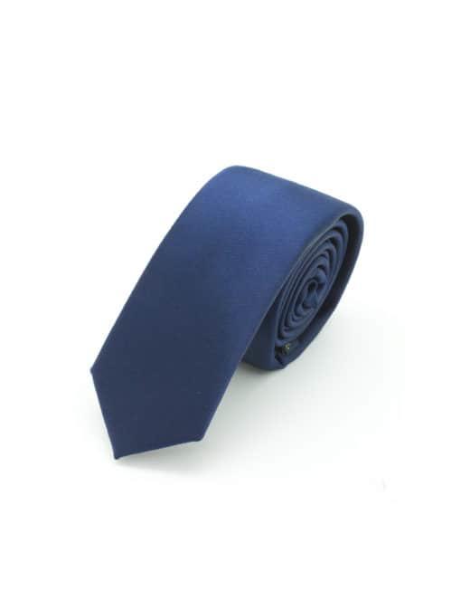 Solid Navy Woven Necktie NT3.13