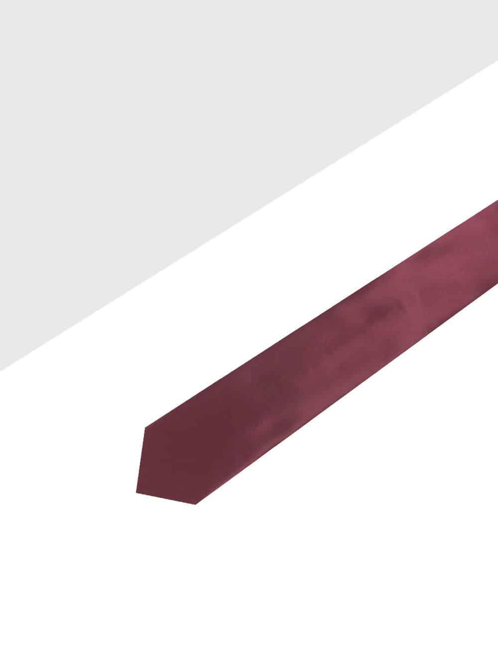 Solid Barn Red Woven Necktie NT3.9