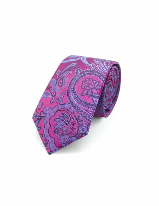 Pink Floral Spill Resist Woven Necktie NT31.9