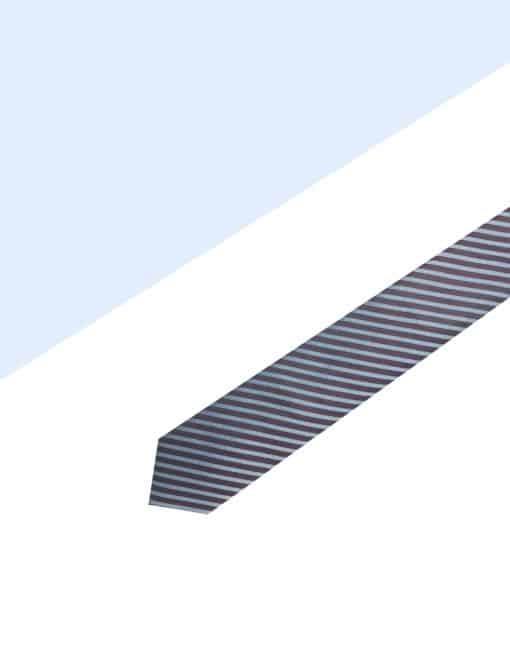 Brown Stripes Spill Resist Woven Necktie NT34.9