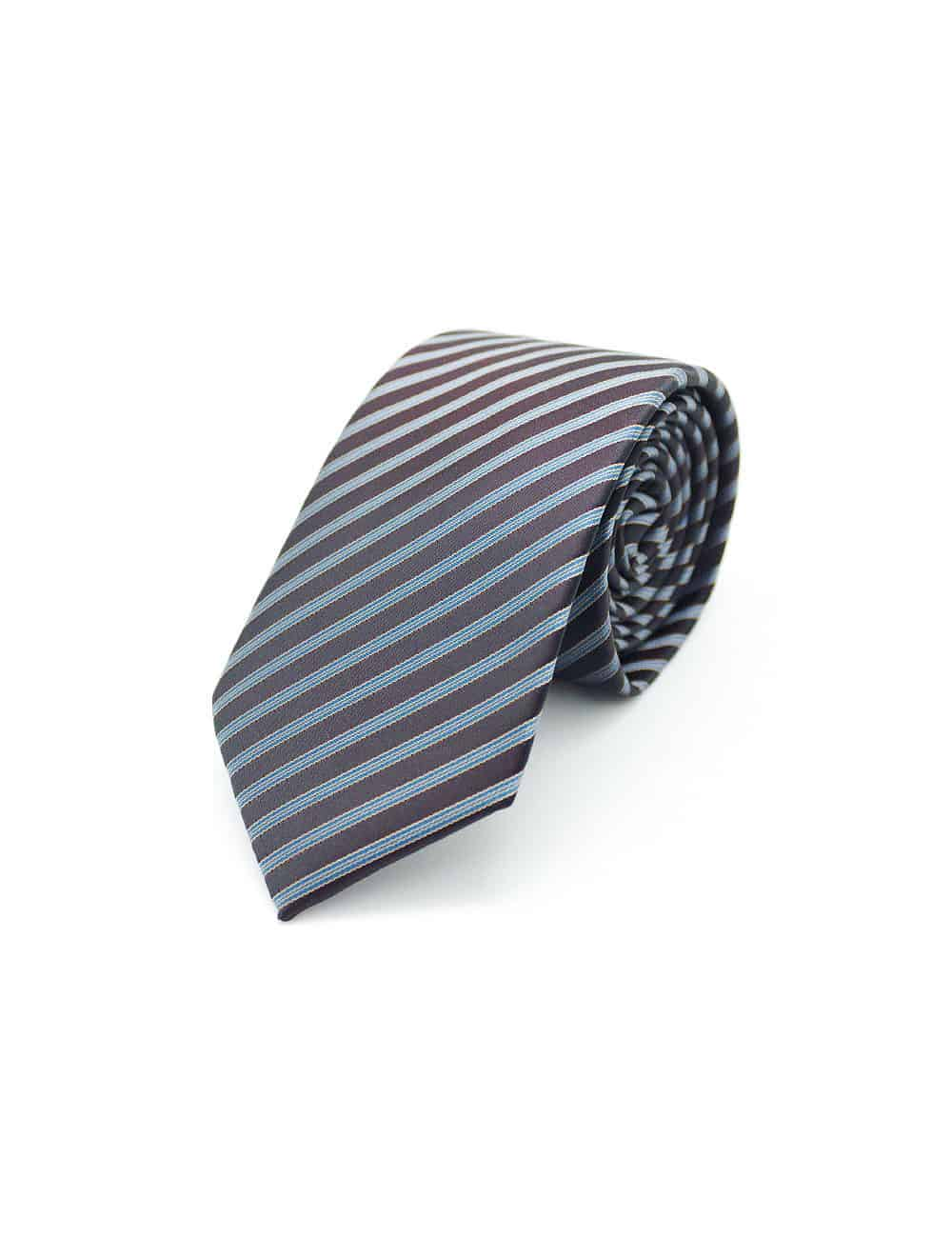 Brown Stripes Spill Resist Woven Necktie NT34.9