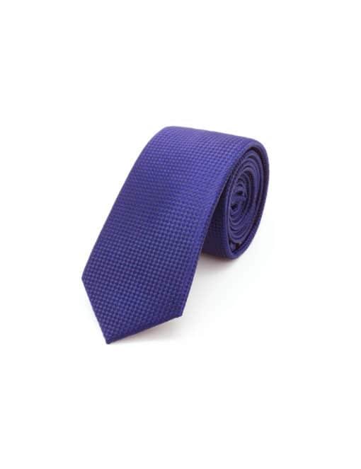 Navy Checks Spill Resist Woven Necktie NT35.9