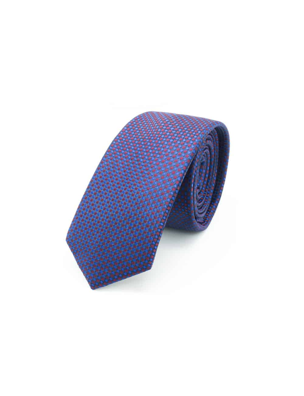 Blue with Red Pattern Spill Resist Woven Necktie NT36.9
