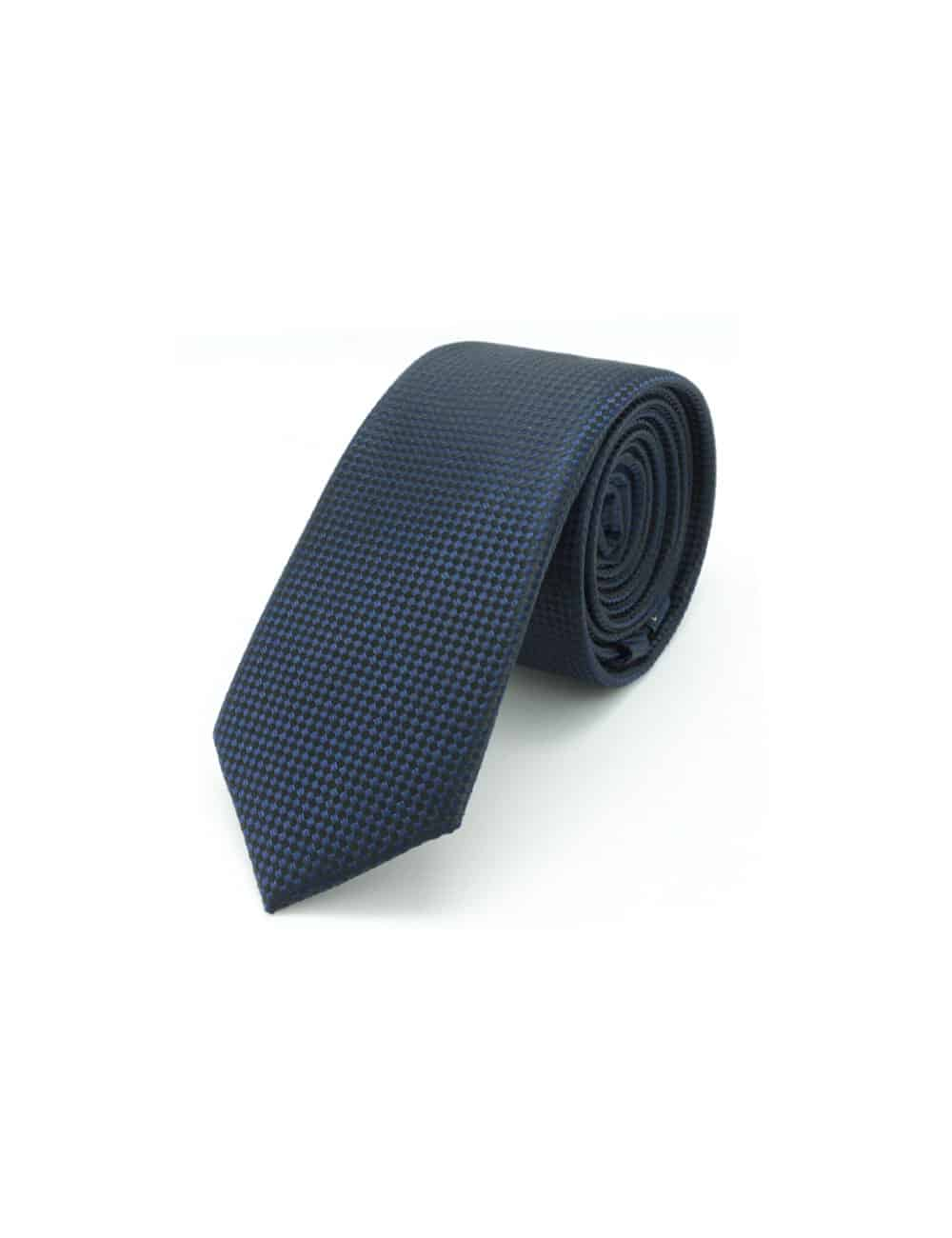 Navy and Black Mini Checks Spill Resist Woven Necktie NT39.9