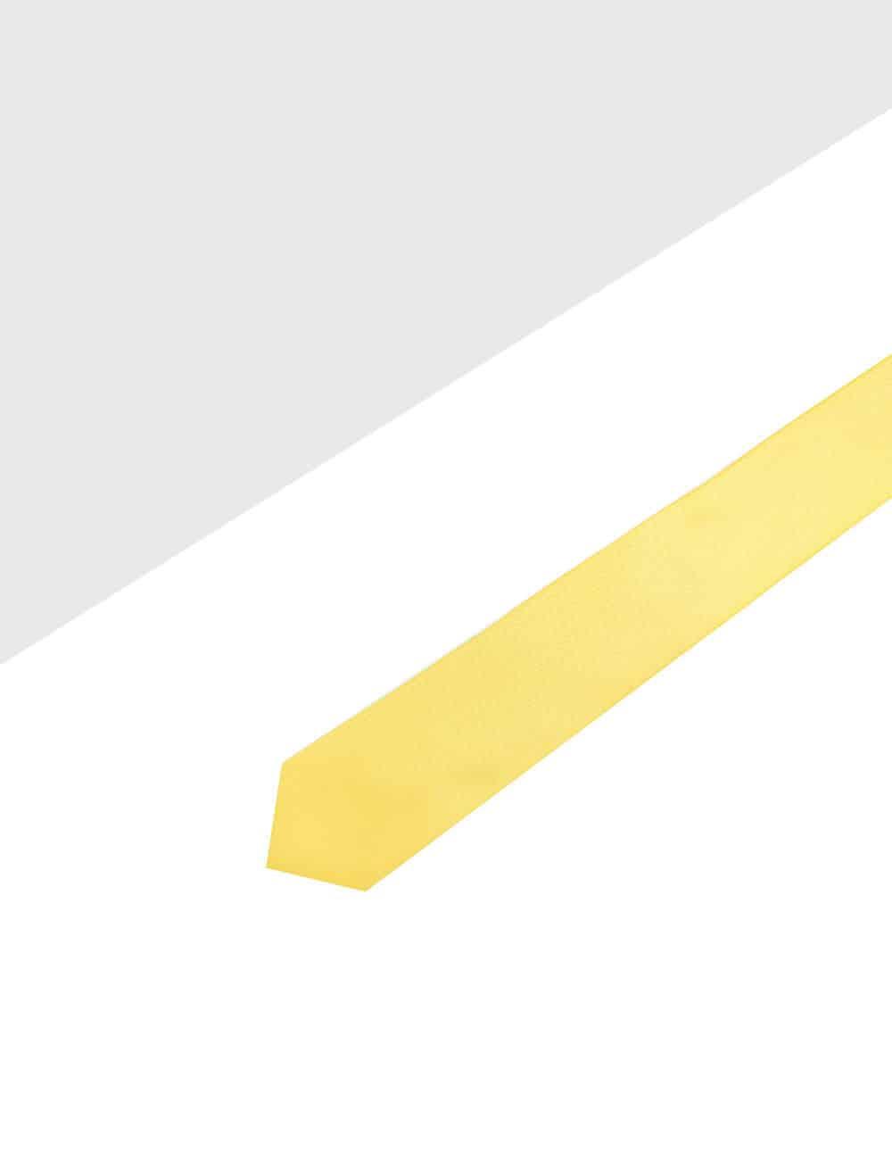 Solid Yolk Yellow Woven Necktie NT4.4