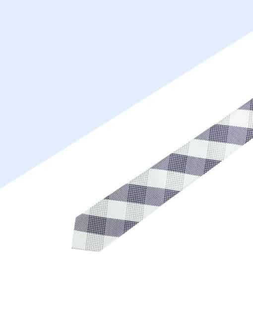 Grey Checks Spill Resist Woven Necktie NT40.9