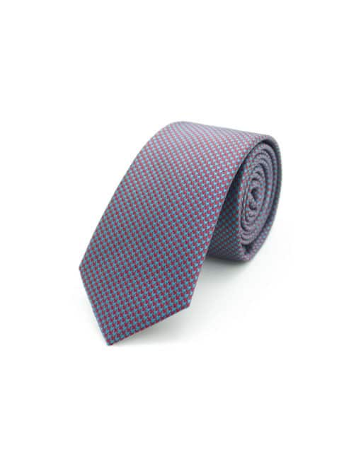 Green and Red Houndstooth Spill Resist Woven Necktie NT45.9