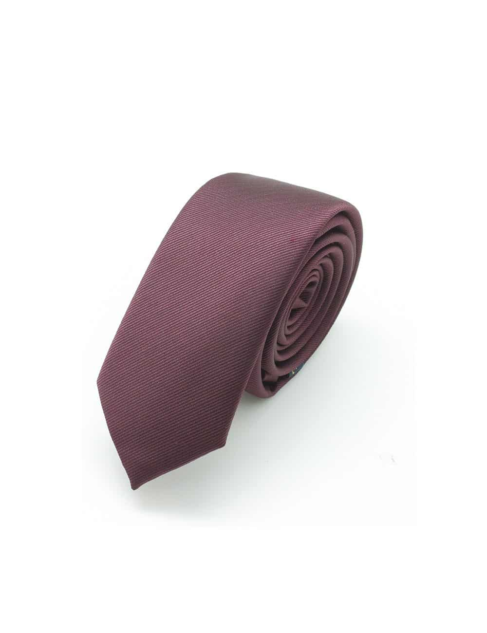 Solid Currant Red Woven Necktie NT5.13