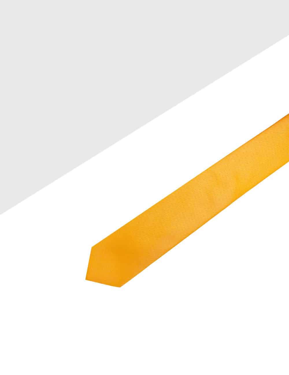 Solid Orange Ochre Woven Necktie NT5.4