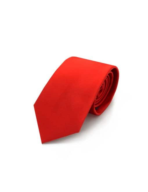 Solid Poppy Red Woven Necktie NT5.9