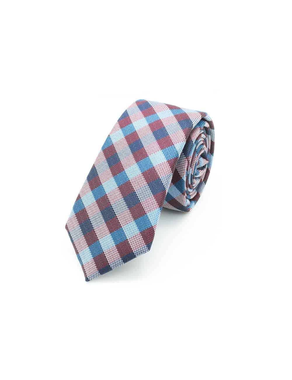 Navy/ Red/ Blue Spill Resist Woven Necktie NT53.9