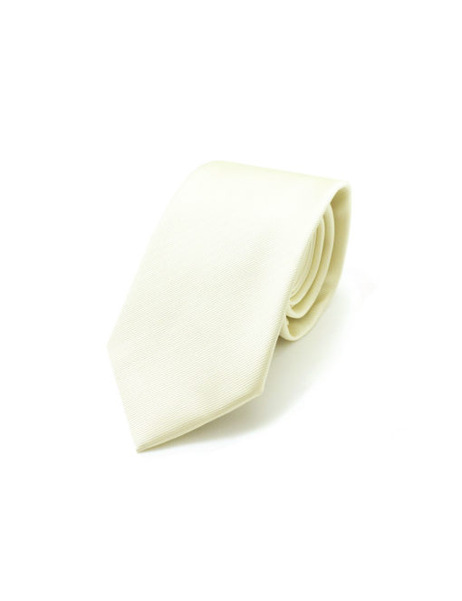 Solid Pearl White Woven Necktie NT6.7
