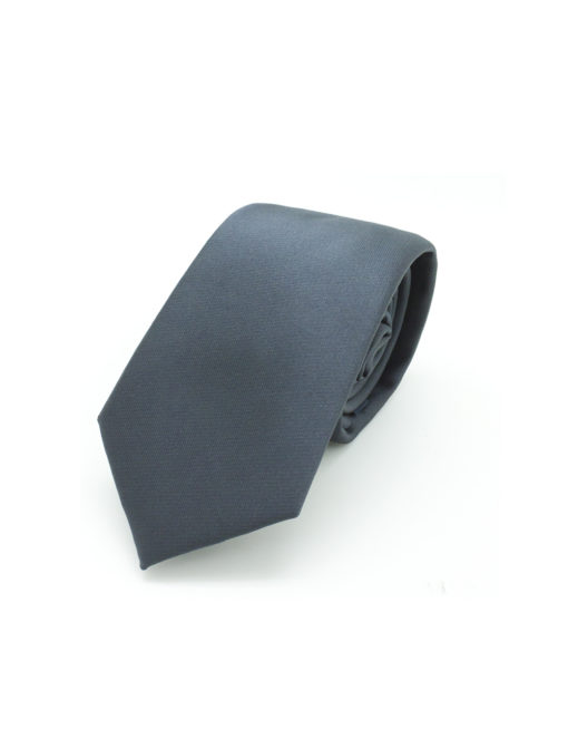 Solid Ash Black Spill Resist Woven Necktie NT8.13