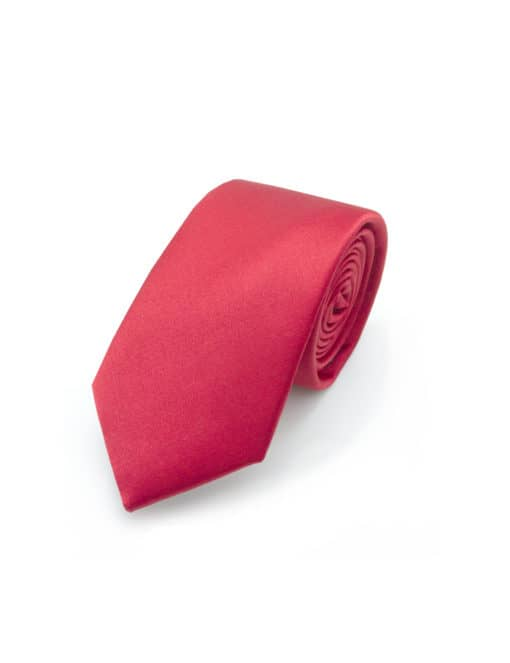 Solid Carmine Red Spill Resist Woven Necktie NT9.13