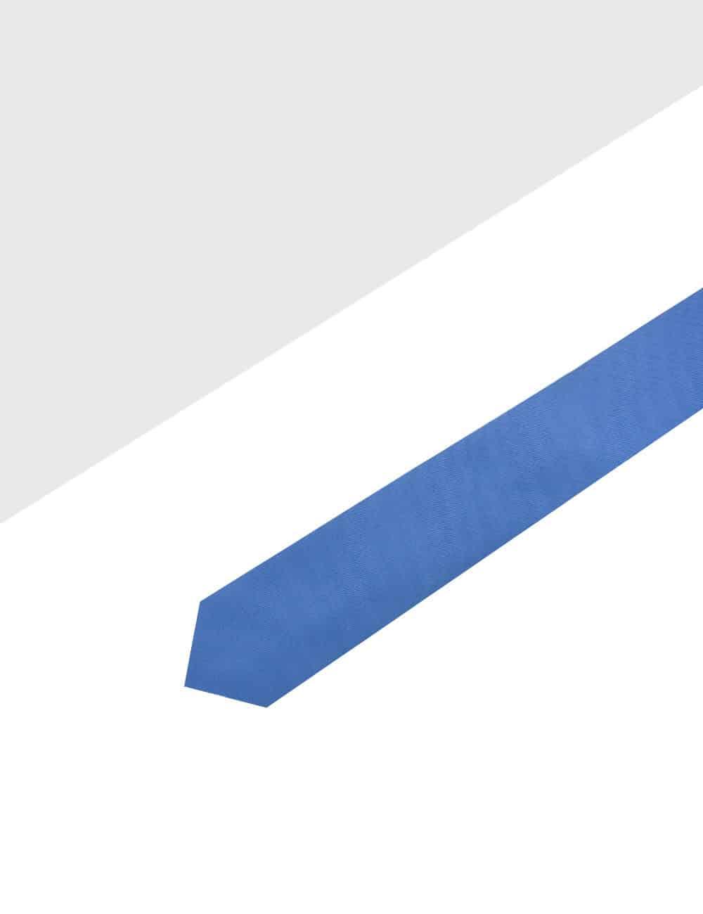 Solid Ash Blue Woven Necktie NT96.8