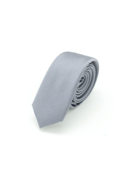 Solid Grey Woven Necktie NT98.8