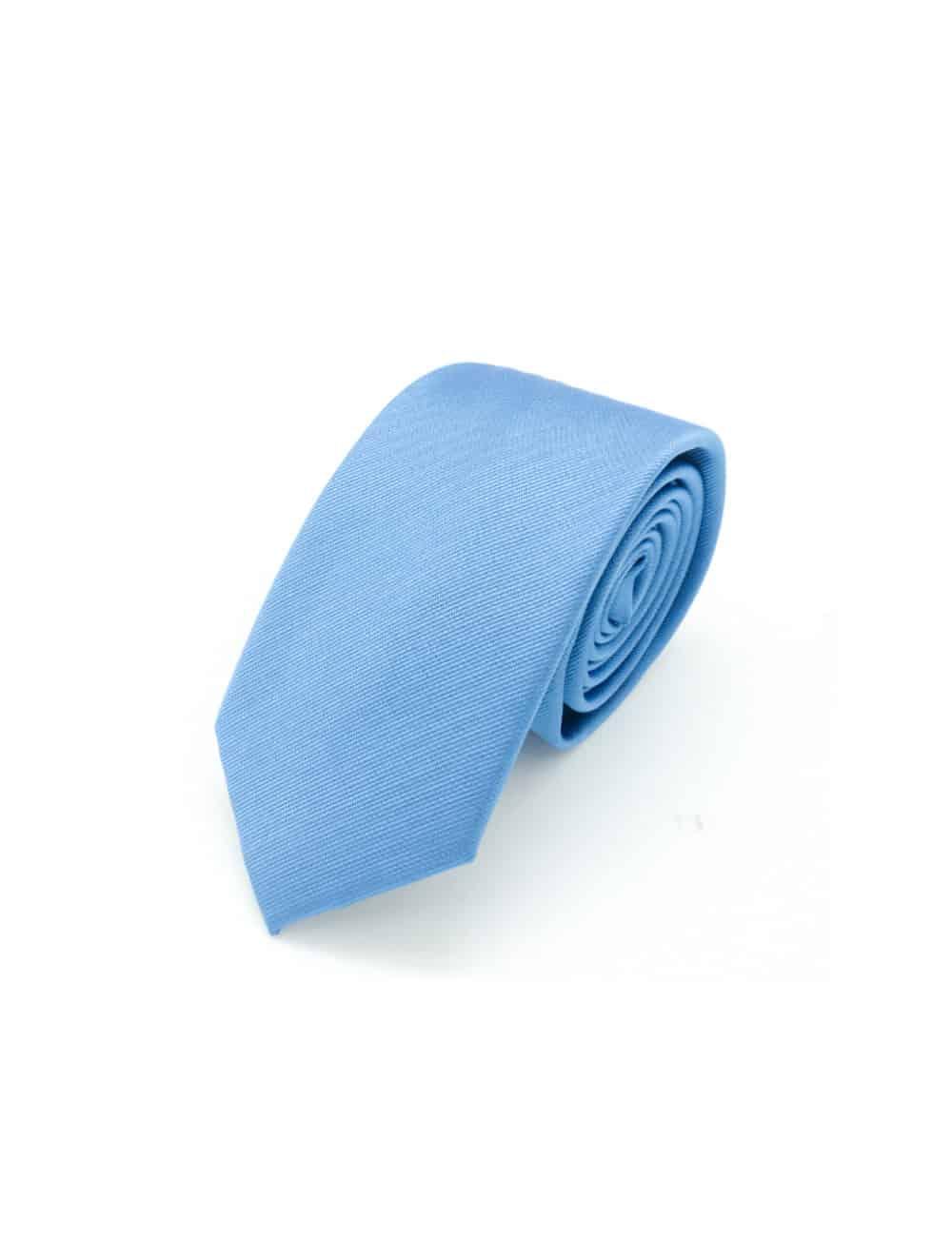 Solid Water Blue Woven Necktie NT99.8