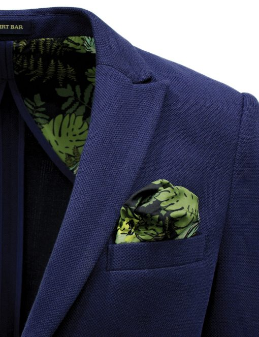 Navy Knitted Blazer - B1B1.3