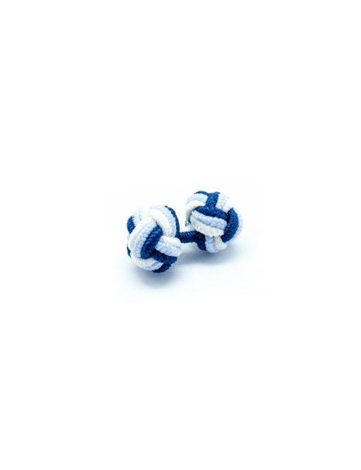 Navy/ Sky Blue/ White Silk Knots - SK2.2