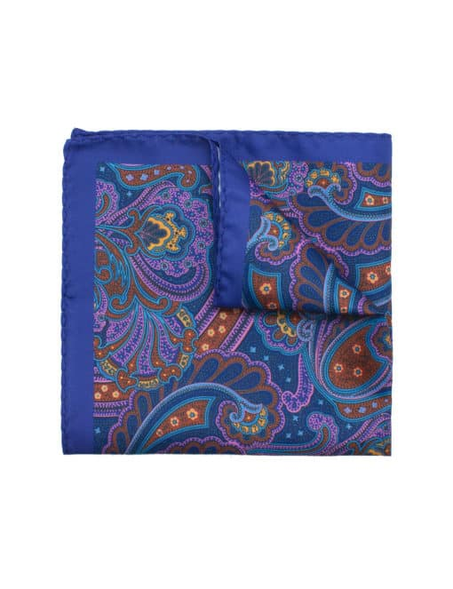 Purple Paisley Print Pocket Square PSQ11.9
