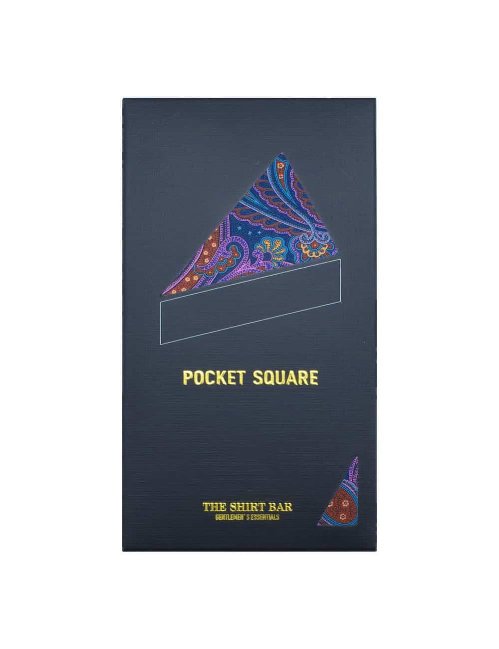 Purple Paisley Print Pocket Square PSQ11.9