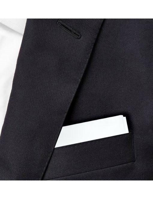 Solid White Pocket Square PSQ20.6