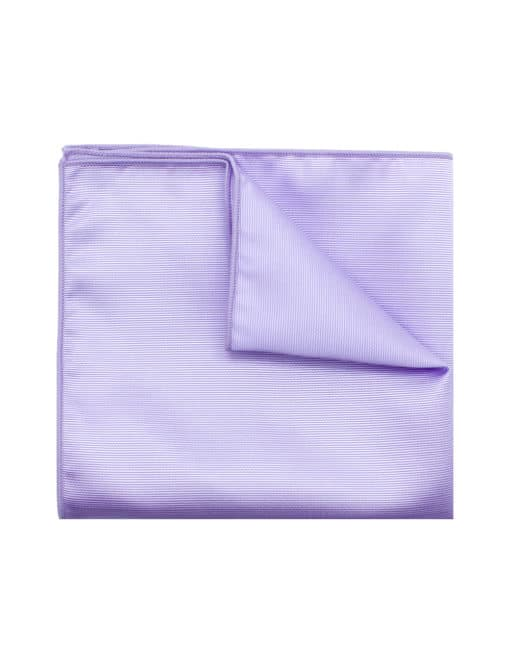 Solid Lilac Woven Pocket Square PSQ21.7