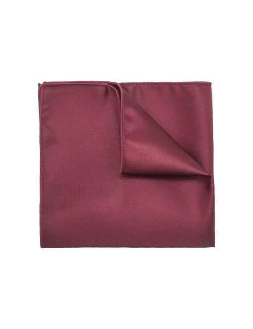 Solid Wine Pocket Square PSQ22.6