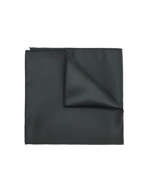 Solid Jet Black Pocket Square PSQ25.6