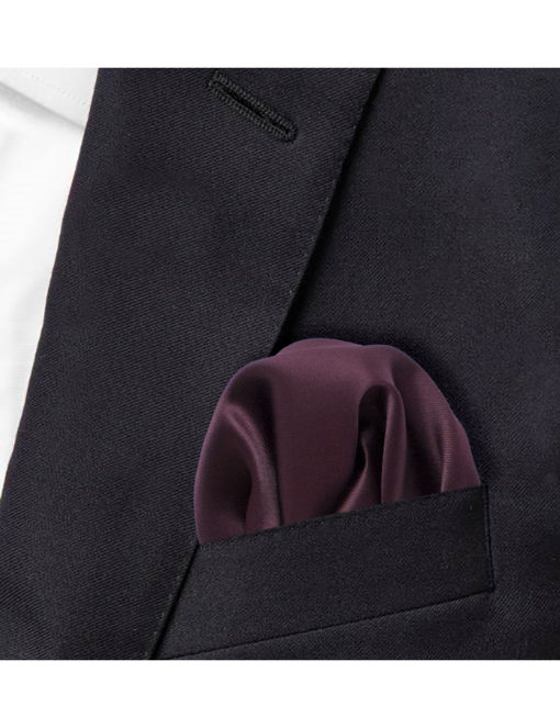 Solid Ruby Wine Woven Pocket Square PSQ28.9
